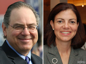 Rep. Paul Hodes and former New Hampshire Attorney General Kelly Ayotte are trading barbs in the race to fill retiring Sen. Judd Greggs seat.
