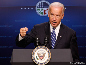 Vice President Joe Biden will be in New Hampshire on Thursday morning to tout what the White House calls a major milestone of the federal stimulus.