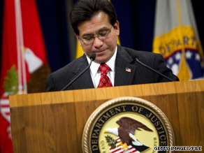 The Justice Department will not charge former U.S. Attorney General Alberto Gonzales or other Bush administration officials in the controversial firings of nine U. S. attorneys.
