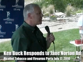 A comment made by Colorado Senate candidate Ken Buck and posted on YouTube is causing a stir.