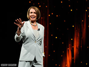 Nancy Pelosi spoke at Netroots Nation on Saturday.