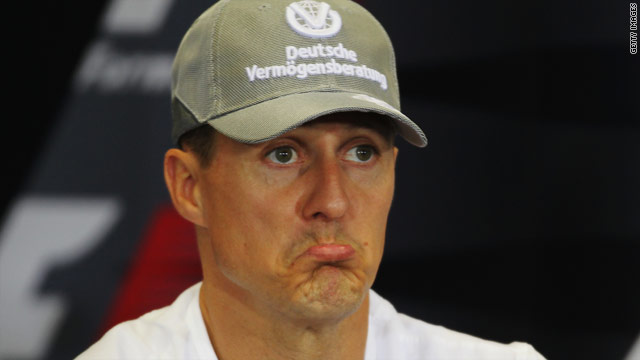 Schumacher has cut a gloomy figure for much of his comeback season in F1.
