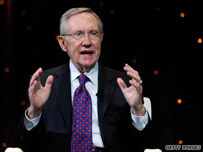 'I know that there are times I am told that I get on your nerves,' Senate Majority Leader Reid said to some laughter in a gathering of progressive activists. 'And I am here to tell you ... you get on my nerves sometimes.'