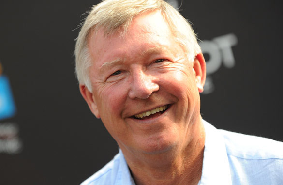 Alex Ferguson has shown a more genial side of his personality on tour in the United States. (Getty Images)