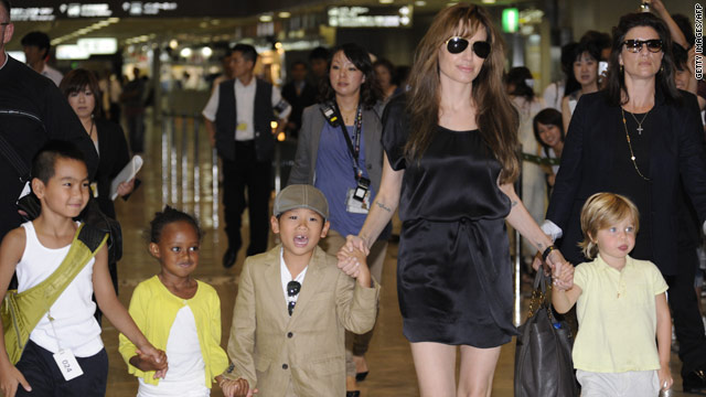 The Jolie-Pitts arrive in Japan