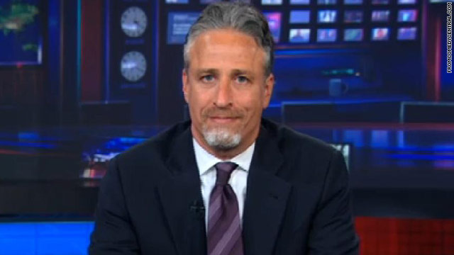 What's that on Jon Stewart's face?