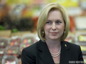Sen. Kirsten Gillibrand ranks third on The Hill's list of the 50 most beautiful people on Capitol Hill.