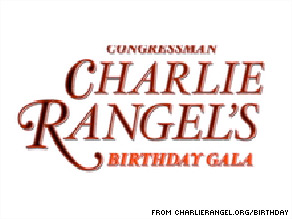 Rep. Charlie Rangel is having a birthday party in New York City next month.
