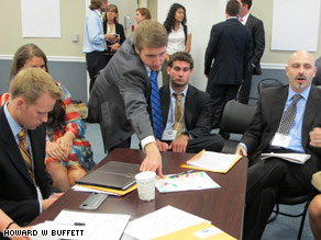 Young entrepreneurs meeting at the White House.