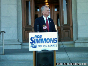 Rob Simmons picked up a major endorsement Wednesday.
