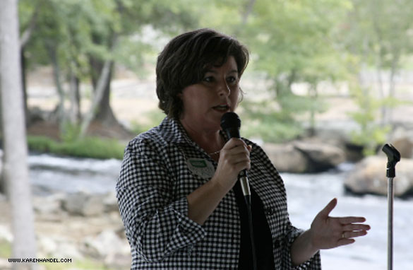 Georgia's former secretary of state Karen Handel will get some campaign support from Sarah Palin.