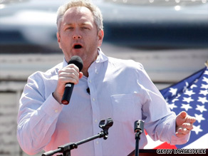 Conservative blogger Andrew Breitbart, pictured, was scheduled to appear with RNC Chairman Michael Steele at a reception later this month in Beverly Hills.