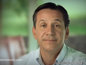 Washington Senate candidate Dino Rossi released his first TV ad on Tuesday.