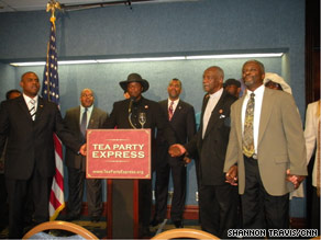 A group of African-American conservatives praised the Tea Party movement at the National Press Club Wednesday.