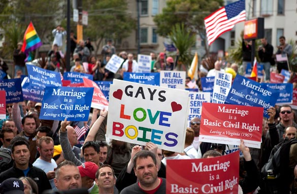 battle over gay marriage