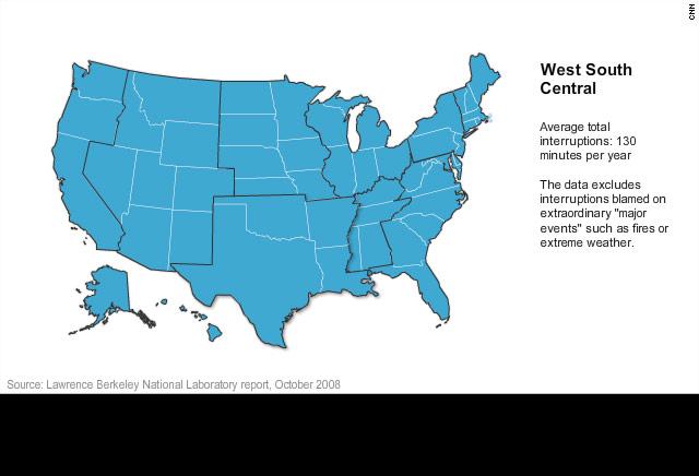 Berkeley Power Outage Map.U S Electricity Blackouts Skyrocketing Cnn Com