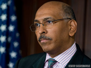 Michael Steele avoided questions about a second term on Friday.
