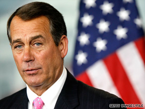 House Minority Leader John Boehner said Sunday that if he had to, he would vote for a Democratic proposal to restore higher tax rates on the richest Americans.