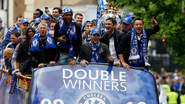 Chelsea celebrated the Premier League-FA Cup double last season.
