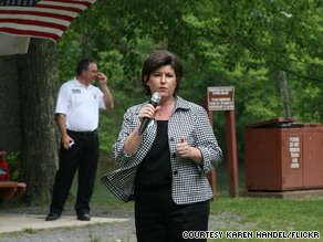  Former Georgia Secretary of State Karen Handel has conceded in the GOP gubernatorial primary.