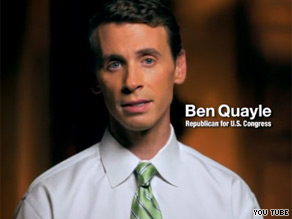 Quayle is out with a dramatic new ad bashing Obama.