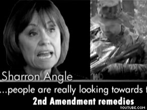 Nevada Democratic Sen. Harry Reid's campaign has released an ad calling Republican Senate candidate Sharron Angle 'too extreme.'