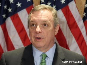 Illinois Senator Dick Durbin,  the Democrats' number two man in the Senate, underwent surgery Thursday to remove a small tumor from his stomach, his office announced.'