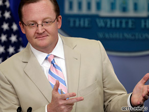 So I saw that your press guy, Robert Gibbs, lit into the hard core liberals in your party for sniping at you too much... Frankly I've wondered why it has taken so long.