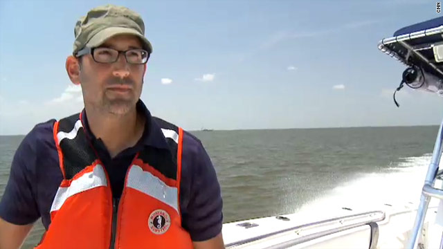 Tad Agoglia is helping to clean up the oil spill, which has complicated comeback efforts