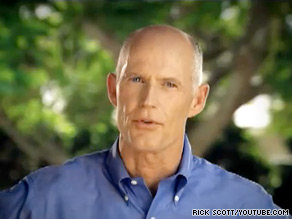 Florida gubernatorial candidate Rick Scott launched a statewide television ad criticizing President Obama's view on plans to build a mosque near Ground Zero.