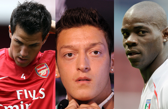 Should Cesc Fabregas (left), Mesut Ozil (center) and Mario Balotelli (right) have shown more respect?.