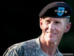 Retired Gen. Stanley McChrystal has signed on with Washington-based Leading Authorities to find him paid speaking appearances, the lecture agency announced Tuesday.
