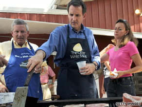 Pawlenty, who recently traveled to the famed Iowa State Fair, is getting tough on President Obama.