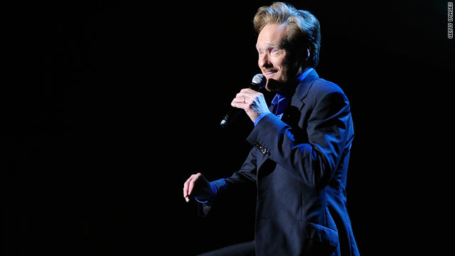 Conan O'Brien does spoken word