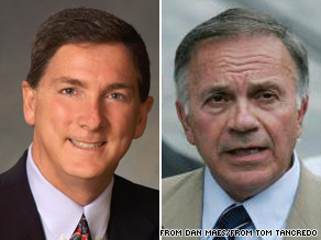 In Colorado, American Constitution Party candidate Tom Tancredo (right) says his gubernatorial challenger, Republican Dan Maes (left) is a total fraud.