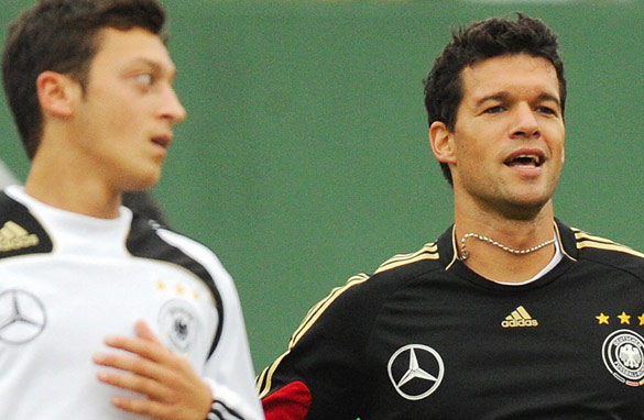 Mesut Ozil (left) and Michael Ballack (right) have interesting seasons ahead of them.