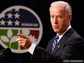 Paraphrasing Mark Twain, the vice president said that reports of the death of the Democratic Party have been greatly exaggerated.