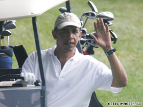 During his time in Martha&#039;s Vineyard last year, the president enjoyed some golfing.