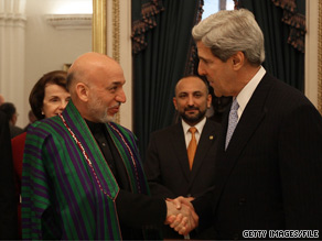 President Karzai's announcement came after a series of meetings Thursday night and Friday in Kabul with U.S. Sen. John Kerry and other senior U.S. and Afghan officials.