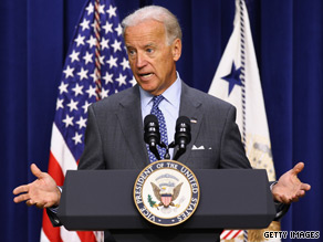 Vice President Joe Biden on Tuesday hit back at House Minority Leader John Boehner's remarks on the economy.