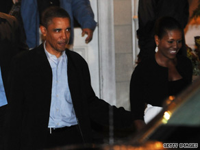 President Obama and first lady Michelle Obama enjoyed a dinner out Monday night.