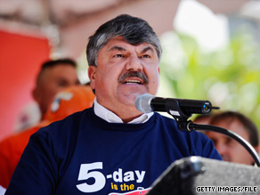 AFL-CIO President Richard Trumka is expected to blast Sarah Palin in a speech set to be delivered Thursday in Anchorage, Alaska.
