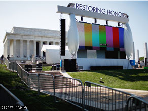 Preparations continue in Washington for Saturday's rally to be held on the steps of the Lincoln Memorial.