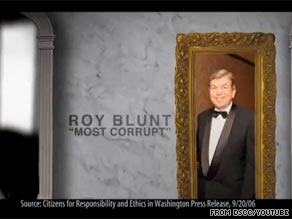  The DSCC is out Saturday with a new attack ad against Missouri Rep. Roy Blunt.