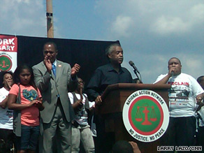 Al Sharpton told a rally in Washington that he will not let conservatives 'turn back the clock.'