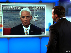 Florida Gov. Charlie Crist is trying to find the middle road in his independent bid for the U.S. Senate.