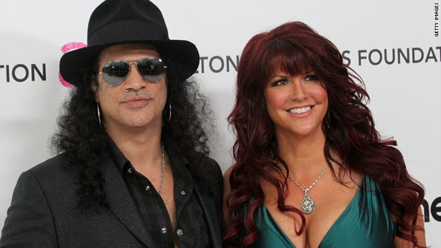 Slash files for divorce from wife Perla Ferrar