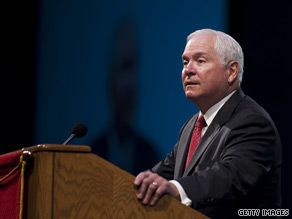 Defense Secretary Robert Gates grew emotional Tuesday when discussing the toll Operation Iraqi Freedom has taken on American men and women in uniform.