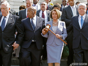 Nancy Pelosi and House Dems get low marks on several issues.