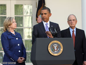 President Obama delivering a statement on the Mideast peace process on Wednesday.